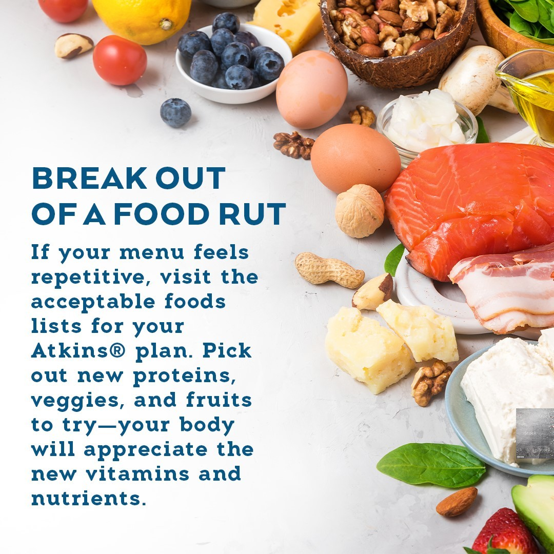Break out of a food rut