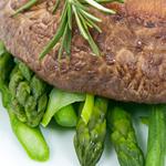 Asparagus, Mushrooms, and Peas