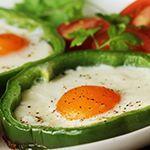 bell pepper rings with egg