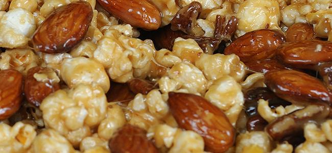 Savory  popcorn nut mix
