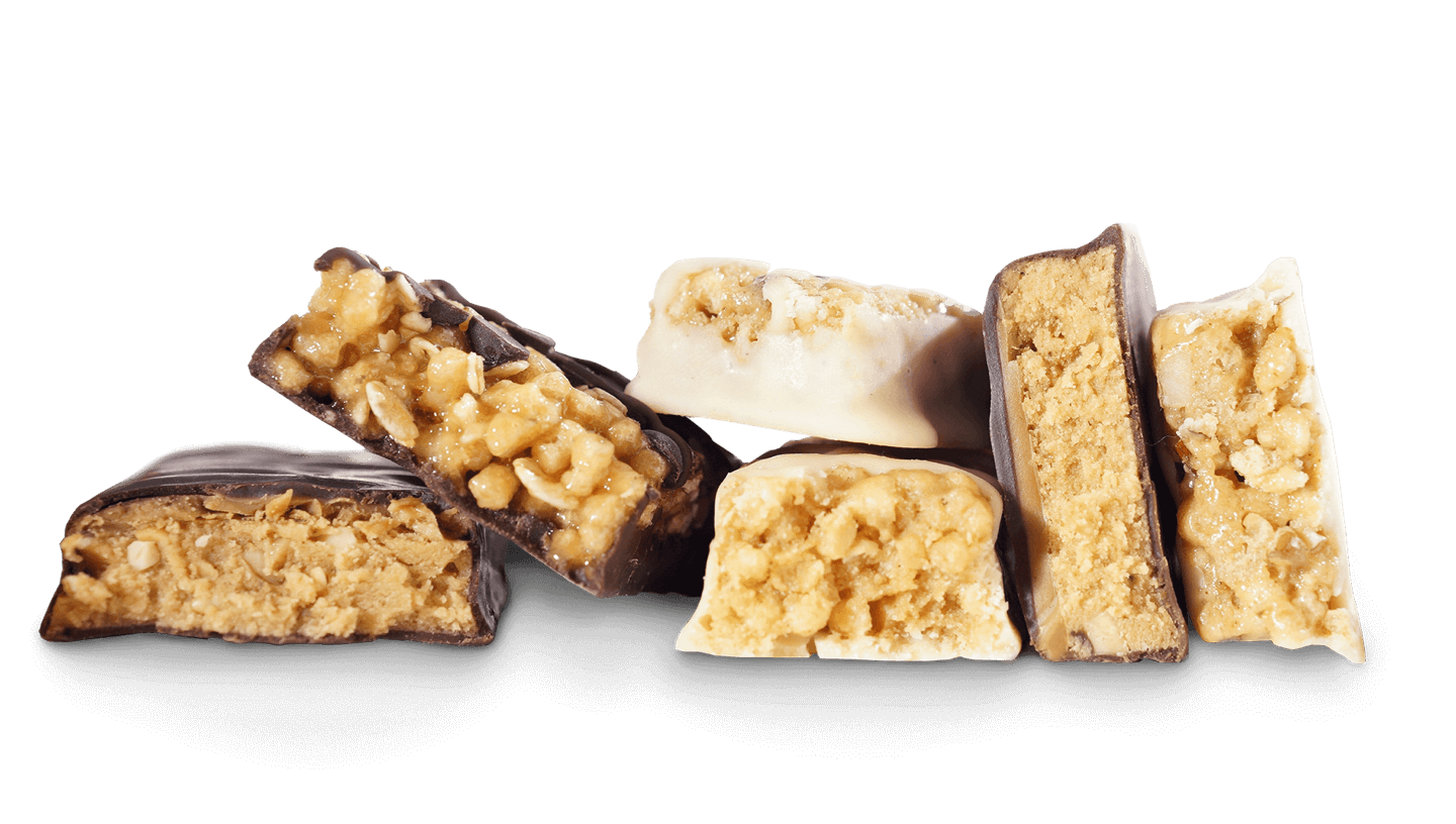 Unwrapped Atkins bars in multiple flavors