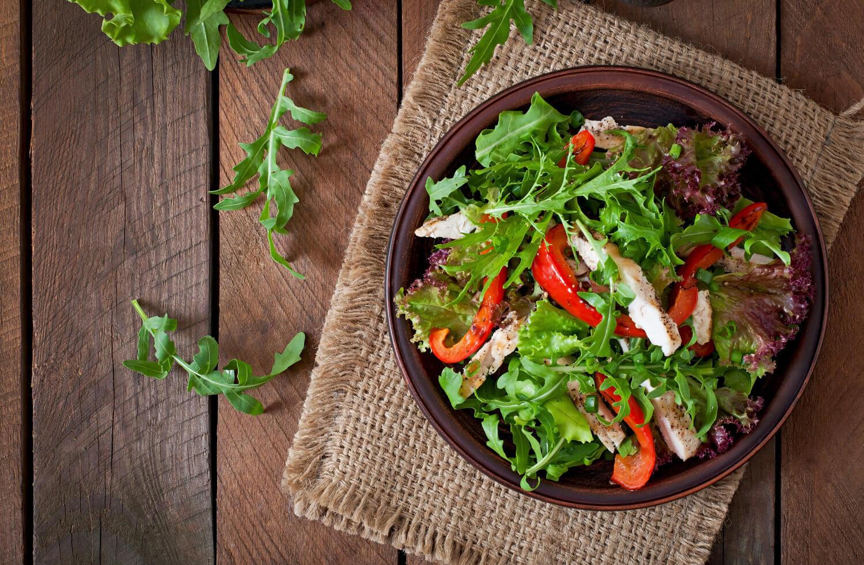 fresh low carb salad