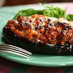 Warm and hearty stuffed eggplant