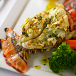 Broiled Lobster with Garlic Oil
