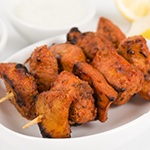Photo of Chipotle Chicken Bites with Creamy Blue Cheese Dip