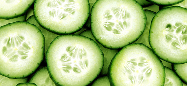 Sliced Cucumbes