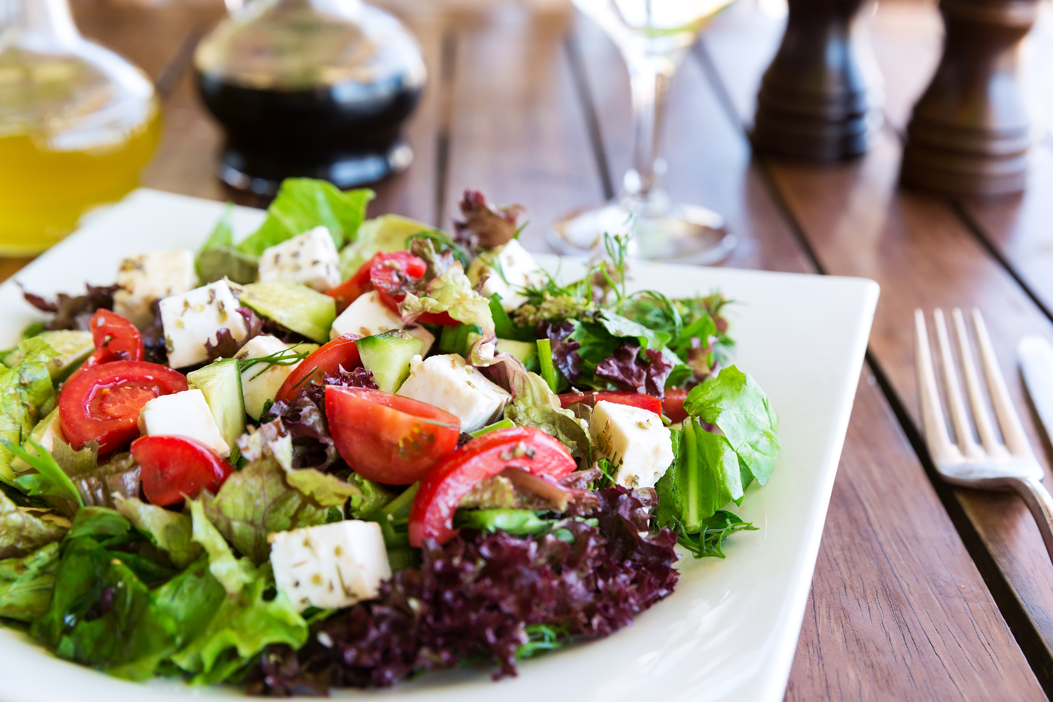 Load up on low carb salads.