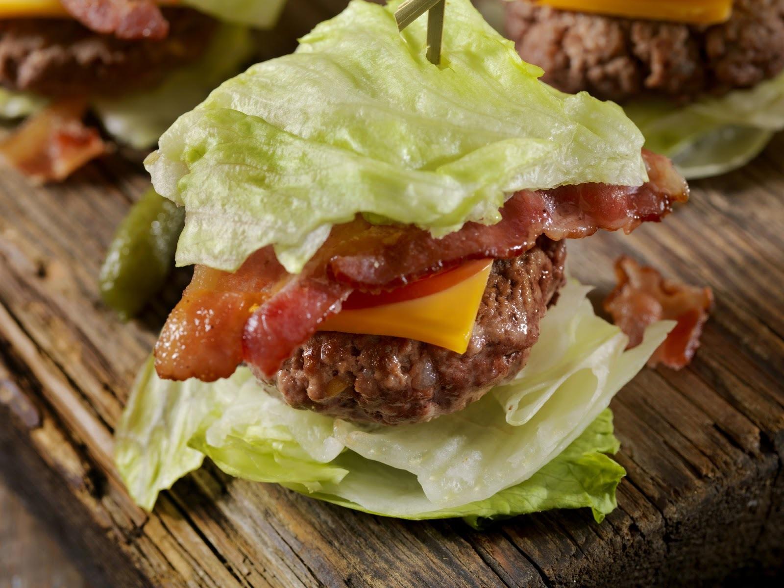 low carb lettuce wrap burger
